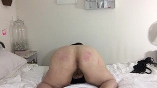 Huge Tit Hairy Pussy BBW Shows off Big Ass and Cums for You